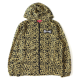 Supreme Cheetah pattern nylon food jacket