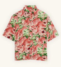 Sandro Paris Short-sleeved printed shirt