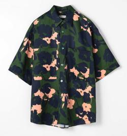 TOMORROWLAND フラワープリント ショートスリーブビッグシャツ