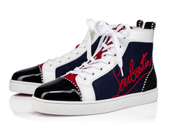 CHRISTIAN LOUBOUTIN Navy Louis スニーカー