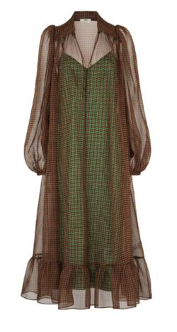 FENDI チュールパネル ドレス