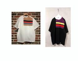kolor/BEACON heavy jersay spliced t-shirt 20ss