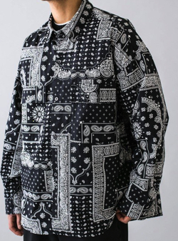 MONKEY TIME BROAD PAISLEY PRINT OVER SIZED CPO/ペイズリーシャツ