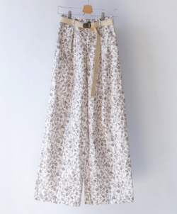MANON ORIGINAL FLOWER WIDE PANTS