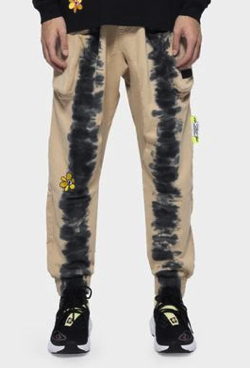 P.A.M.(Perks and Mini) BTC RUST TIE DYE DUPIO PANTS