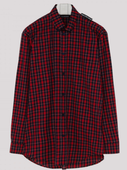 Balenciaga Check cotton shirt