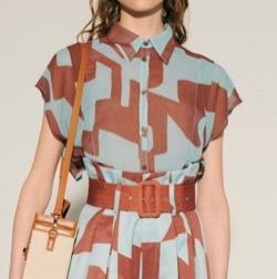 Lily brown(リリーブラウン)アブストラクトシアーシャツ