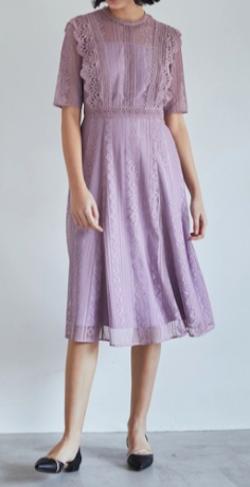 TONAL レースパッチワークドレス