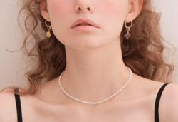 ellepeut stone link earring