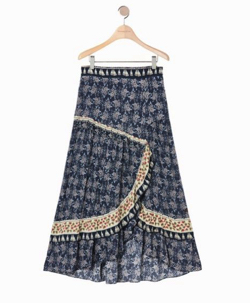 Thursday Island ボーダーミックスマキシスカート