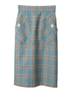 31sonsdemod ビッグポケットチェックタイトスカート