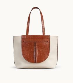 TOD'S ポケット ショッピングバッグ ミディアム - ブラウン