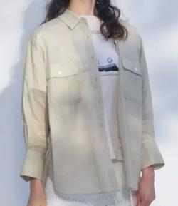 MERCURYDUO(マーキュリーデュオ)ポケット付きリネンシャツ