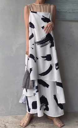 Ameri VINTAGE(アメリ ヴィンテージ)MEDI INK LAYERED DRESS