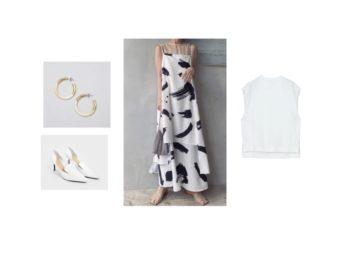 【zip】で 高橋みなみさんが着用しているファッション(服・服装)・可愛い衣装(洋服・ファッション・ブランド・バッグ・アクセサリー等)やコーデ2020/05/28【zip】で《 高橋みなみ》さんが着用していたワンピース・カットソー・パンプス・ピアス