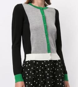PAULEKA(ポールカ)long sleeve color block cardigan