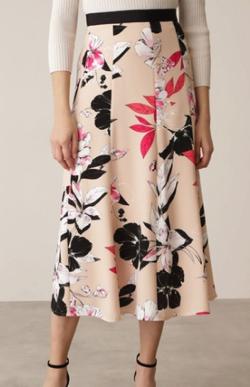 PINKY&DIANNE カラーフラワーゴアードスカート