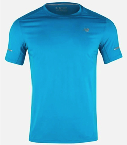 New Balance ore Run Tee Shirts Athletic Blue Top Tee GYM Jersey