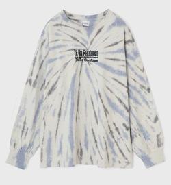 MOUSSY OVERPRINT TIE DYE LS Tシャツ