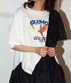 FLUMOR Raffle Print Mini Dress
