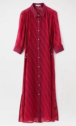 LOVELESS 撥水シアーシャツドレス