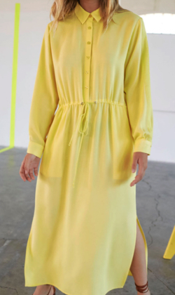 Sita murt/ Combined fabric shirt dress.