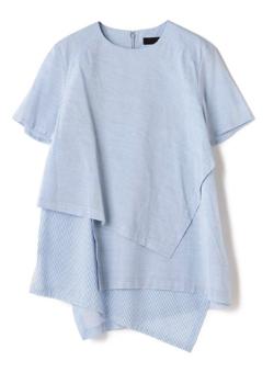 ATSURO TAYAMA レイヤード風半袖ブラウス