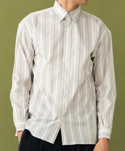 UNITED TOKYO マルチストライプロングスリーブシャツ