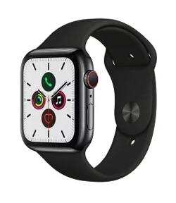 Apple Watch スペースブラックステンレススチールケースとスポーツバンド