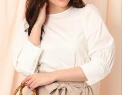 Couture brooch ボリュームパフスリーブシャツ