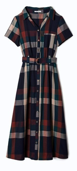 REDYAZEL 半袖オリジナルスプリングチェックシャツワンピース