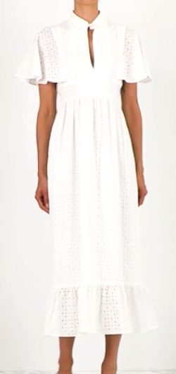 ALEXA CHUNG Cape-back broderie-anglaise cotton dress