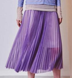 MAISON SPECIAL シアーオーガンジーロングプリーツスカート