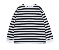 Graphpaper Border L/S Pocket Tee
