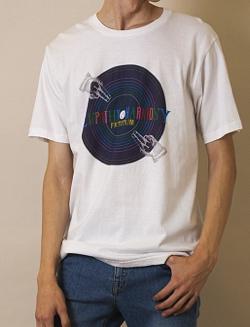 """FACTOTUM グラフィックTシャツ """"MUSIC"""""""