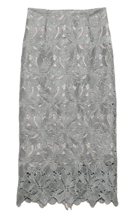 FRAY I.D ラメレーススカート