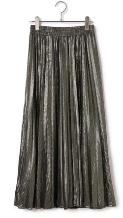 ViS シャイニーアコーディオンプリーツスカート