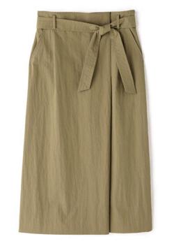 BOSCH ベルト付タックロングスカート