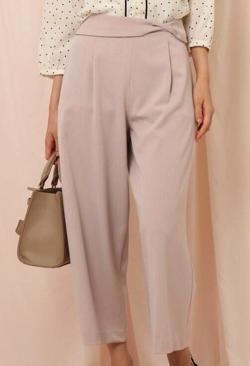 couture brooch 【洗える】ウエストリボンデザインワイドパンツ