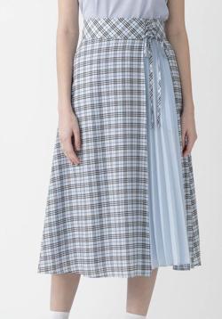 BLUE LABEL CRESTBRIDGE マイクロチェックドレープローンスカート