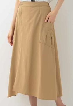 HIROKO BIS 【洗濯機で洗える】ストレッチラップスカート