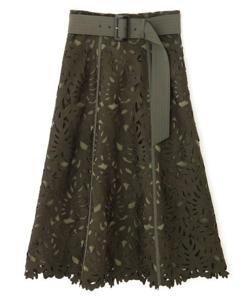 PINKY&DIANNE リーフレースフレアスカート