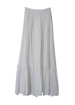 31 Sons de mode コットン刺繍切替スカート