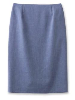 INDIVI 麻混ライトタイトスカート