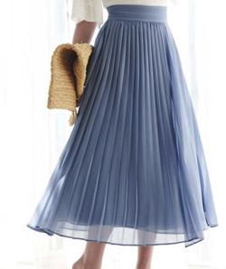 Swingle 巻き風プリーツマキシスカート