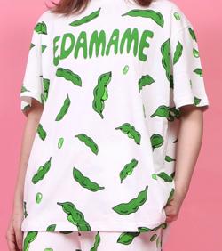 PUNYUS フード総柄Tシャツ