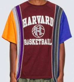 NEEDLES 7 CUTS COLLEGE TSHIRT MULTICOLOR