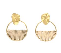 ADER.bijoux RATTAN circle earring