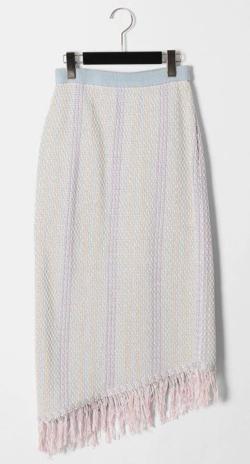 GRACE CONTINENTAL スレッドストライプニットスカート