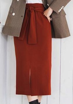 Sylph ベルト付きフロントスリットタイトスカート